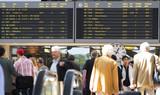 airport flight schedule dep poster