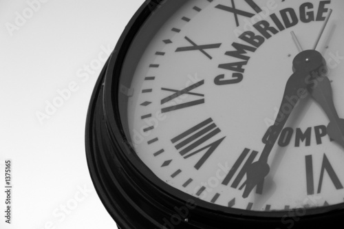 portion of clockface
