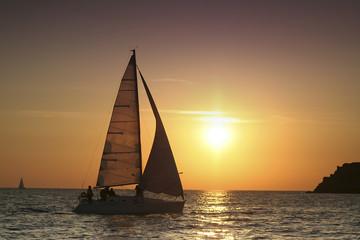 dawn under sails