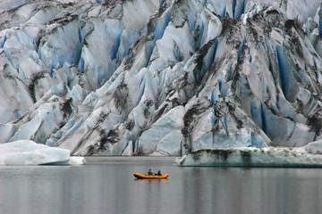 kayaking at glacier