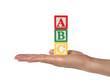 Leinwanddruck Bild alphabet