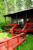 log cabin woods poster