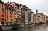 panorama am fluss in florenz, italien poster