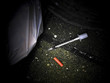 hypodermic needle drugs narcotics problem
