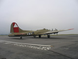 b-17 on the runway