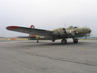 b-17 preparing for take-off
