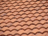 pink tile roof poster