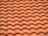 red tile roof poster