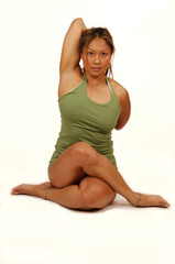 yoga pose legs crossed