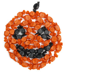 candy pumpkin face