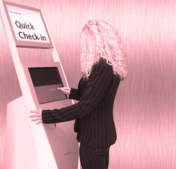 quick check-in pink
