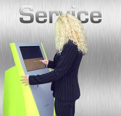 woman service grey
