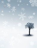 peaceful snowfall poster