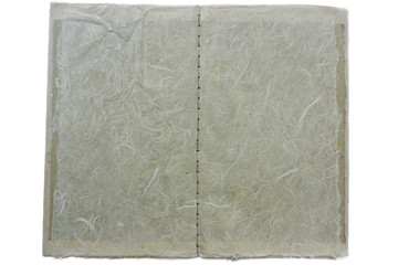hand stitch book; fibrous, wide view