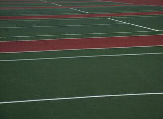 row of tennis courts