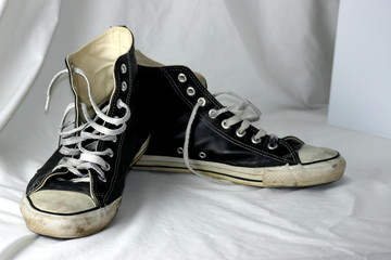 old basketball sneakers