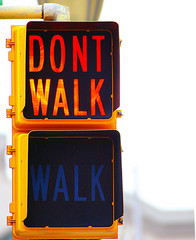 don't walk sign