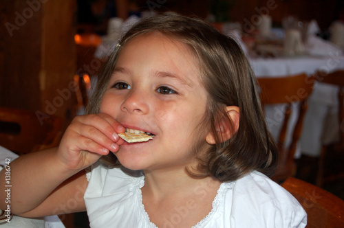 girl eating cracker