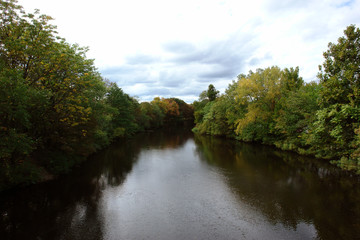 view of the charles river in watertown massachusetts
