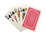 playing cards isolated - royal flush poster