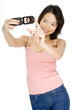 asian girl with cameraphone
