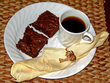 coffee and brownies with napkin poster
