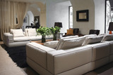 white sofa in interior poster
