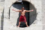 muscular man poster