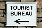 tourist bureau sign poster