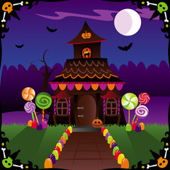 halloween cottage