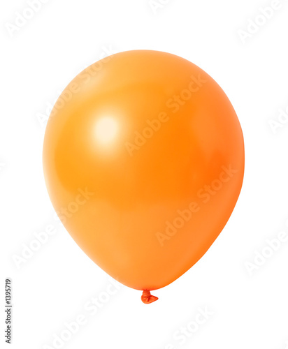 balloon on white with path