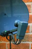 digital television satellite dish poster
