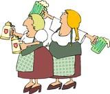 german beer maidens poster