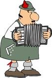 german accordion player poster