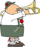 german trombone player poster