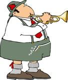 german trumpet player poster