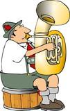 german tuba player poster
