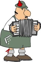german accordion player