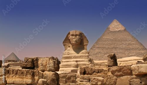 fototapeta na ścianę Zabezpieczenia piramidy sfinks