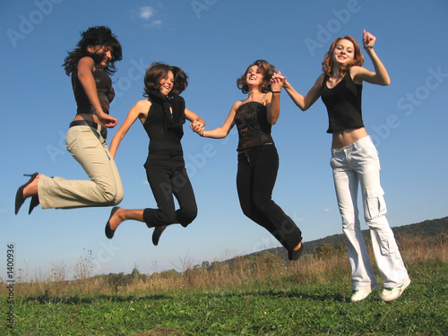jumping girls