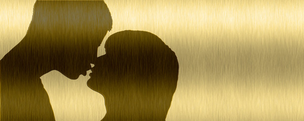 liebespaar / lovers (gold)