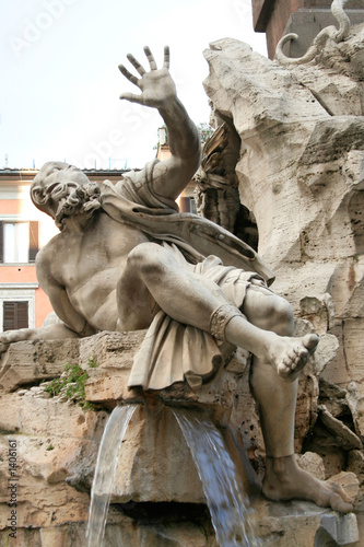 piazza navona fountain, rome