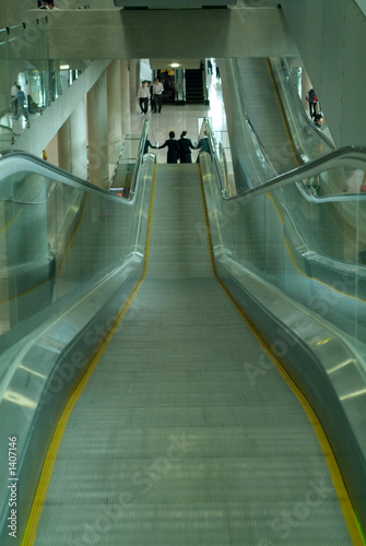 escalators at airport
