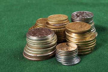 coin piles