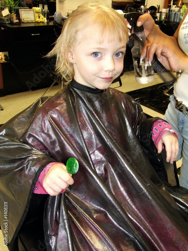 poster of girl at the beauty salon