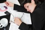 sleeping businesswoman poster