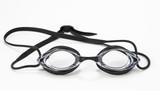 black swimming goggles poster