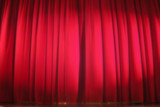 red stage curtain poster
