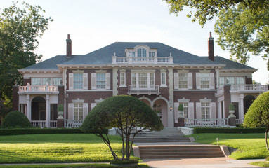 large urban colonial style house