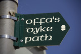 signpost offas dyke long distance footpath chepsto poster
